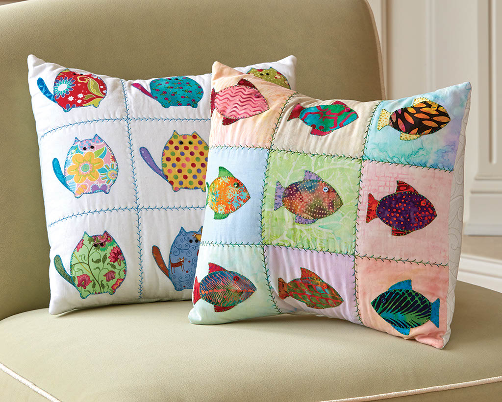 Cat Fish Pillow Fons Amp Porter The Quilting Company