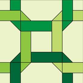 Celtic Twist Free Quilt Block Pattern