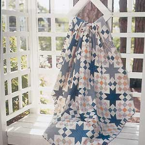 Checkered Star 300px Friday Free Quilt Patterns: Checkered Star