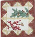 Chickadees FREE Mini Quilt Pattern