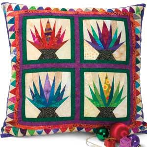 Christmas Cactus Pillow   November/December 2010   McCall's ... : cactus quilts - Adamdwight.com