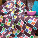 Colorful Stars: Bright Easy Lap Quilt Pattern