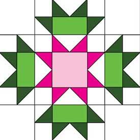 Connemara Flower Free Quilt Block Pattern