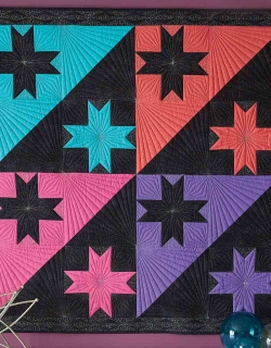 Cosmic Yin and Yang Quilt Pattern