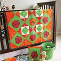 Counting Ladybugs Kids Game Quilt
