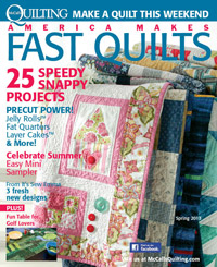 Bed and Breakfast in America Makes Fast Quilts Spring 2013