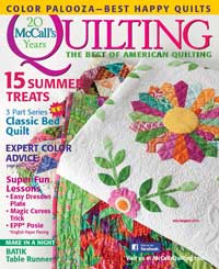 McCall's Quilting July/August 2013 Issue