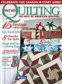 Download The FREE Snow Kissed Star Lap Quilt Pattern