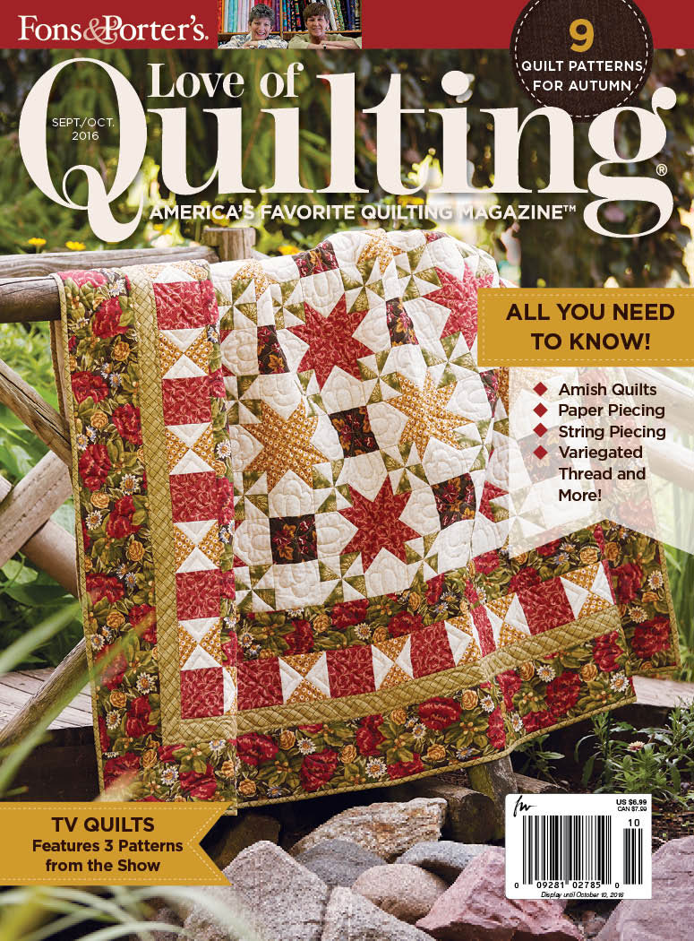 Pattern corrections fons porter the quilting company love of quilting septemberoctober 2016 fandeluxe Choice Image