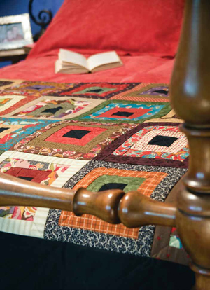Cozy Cabins quilt 2 bl Friday Free Quilt Patterns: Cozy Cabins