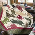 Cozy Lodge Twin Size Quilt Pattern