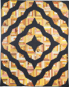 Curved Log Cabin Quilt