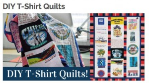 DIYT ShirtQuilts 300x168 T Shirt Quilts: Pieces from the past and the comfort of home.