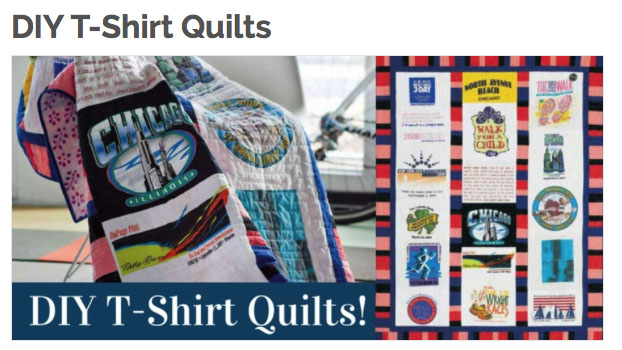 DIYT ShirtQuilts T Shirt Quilts: Pieces from the past and the comfort of home.