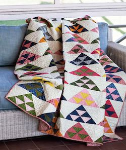 Pomegranate Mountains Quilt - Quilt Patterns Using Fat Quarters