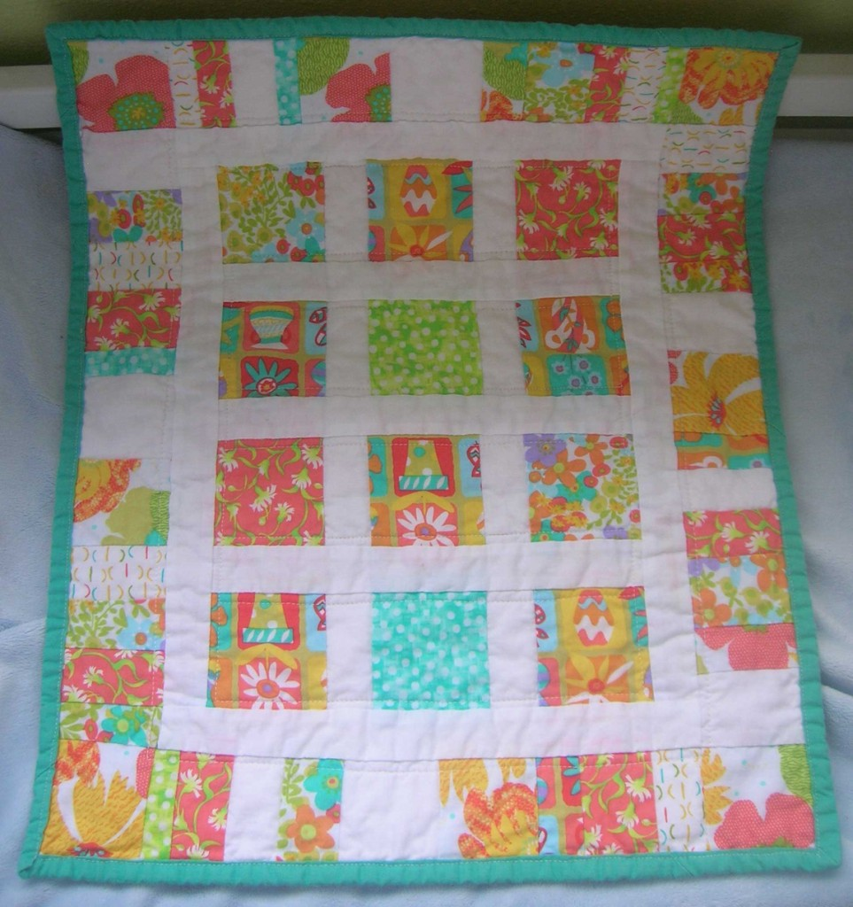 Doll quilts, rayon thread and 12 bound corners