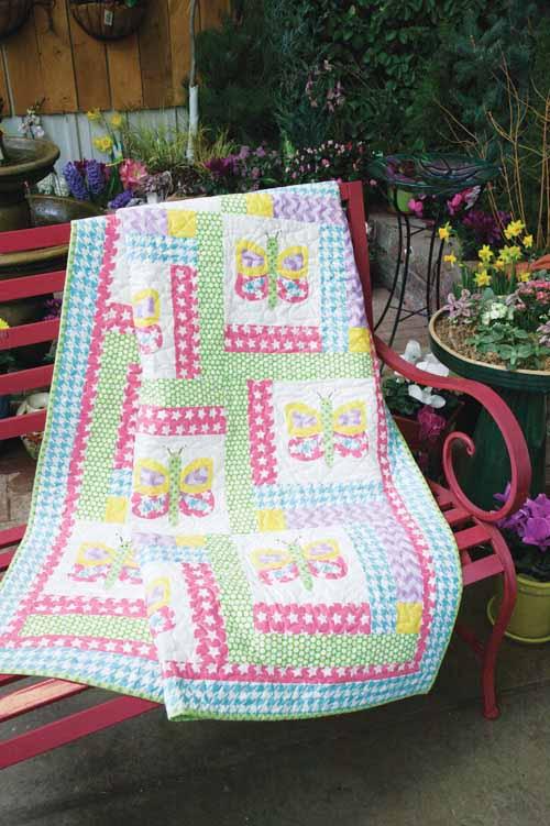 Dancing Butterflies 10 Spring Quilt Patterns & Project Ideas