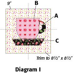 Teacup Block: FREE quilt block pattern at McCallsQuilting.com