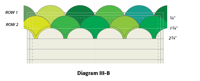 Diagram 3-B, Forty Shades of Green: FREE Ireland Quilt Block Pattern from McCallsQuilting.com