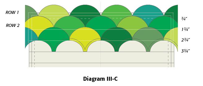 Diagram 3-C, Forty Shades of Green: FREE Ireland Quilt Block Pattern from McCallsQuilting.com