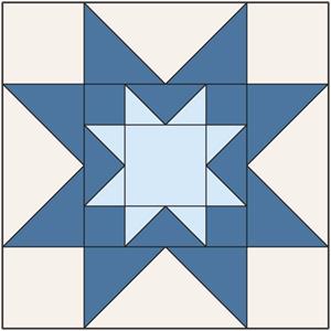 Double Sawtooth Star Block: FREE Patchwork Quilt Block Pattern ... : quilt block templates - Adamdwight.com