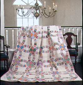 Free Double Wedding Ring Quilt Pattern Quilting Daily