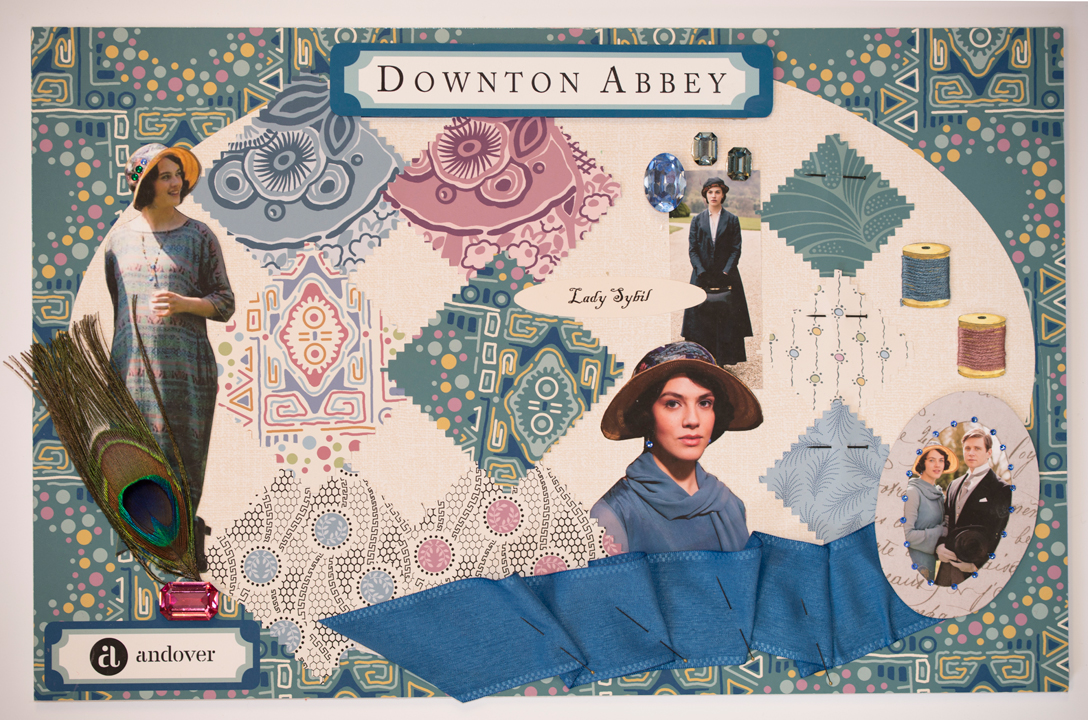 Downton Mood Boards Sybil Quiltmaker + Downton Abbey + Andover = Fabulous!