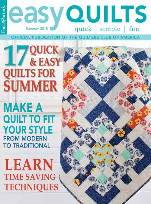 Pattern corrections fons porter the quilting company easy quilts summer 2015 fandeluxe Choice Image