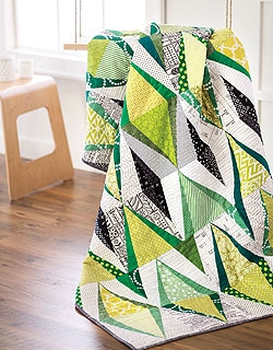 Emerald Ikat Quilt