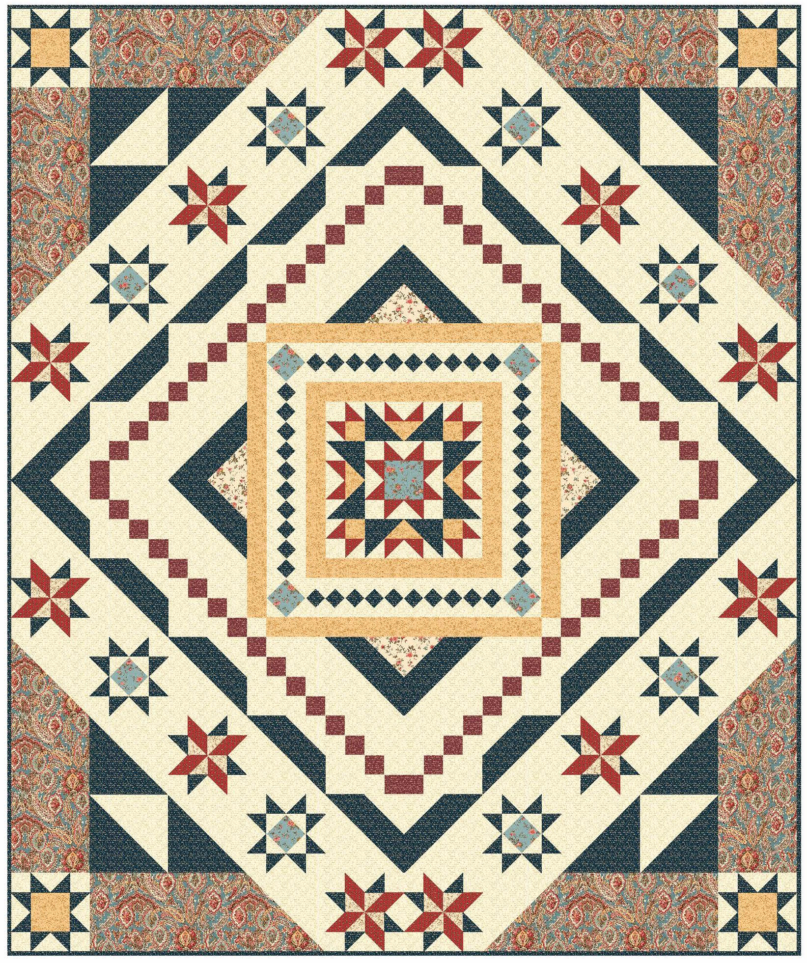 Essex BOM virtual quilt 4 Block of the Month Quilts to Make in 2017