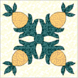 Friday Free Quilt Patterns: Pineapple Wall Hanging Quilt Pattern ... : free pineapple quilt pattern - Adamdwight.com