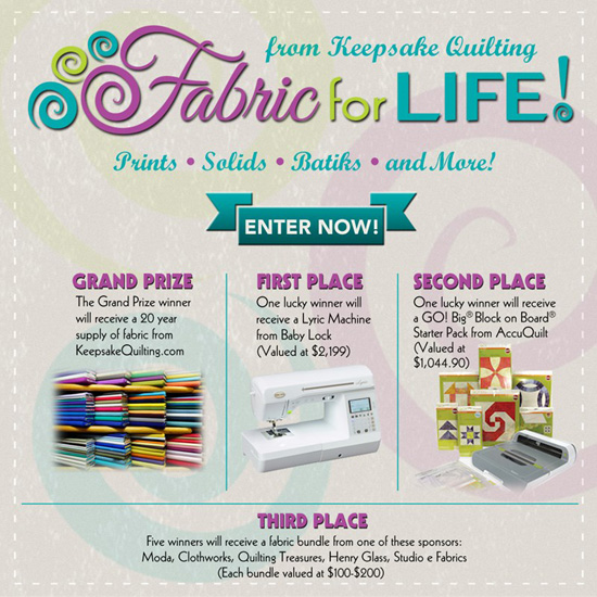 FFL 550px Win Big With The Fabric For Life Sweepstakes!
