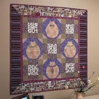 Fat Cats in the City - Free Wall Quilt Pattern