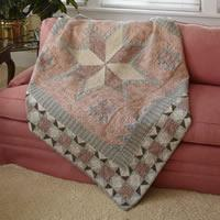 European Feathered Star Free Quilt Pattern