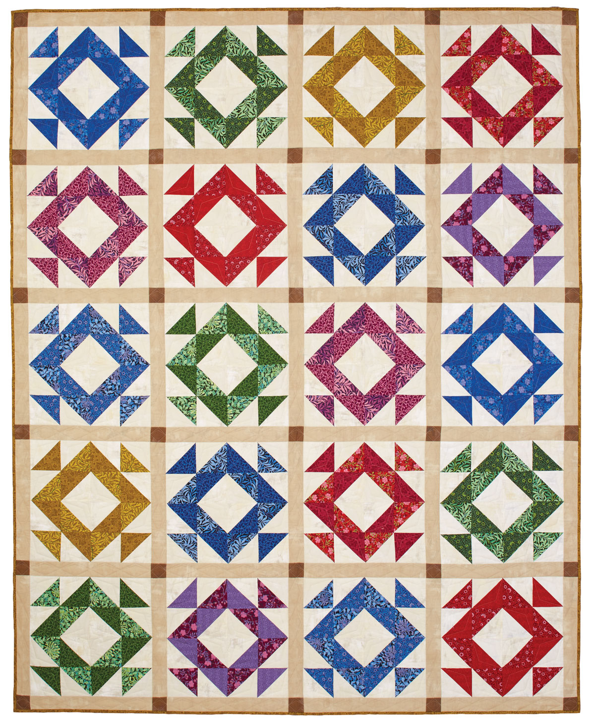 Faceted Quilt - Big Block Quilts