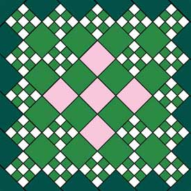 Fairies And Flower Petals Free Quilt Block Pattern
