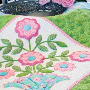 Fancy Flowers: Floral Appliqu Wall Quilt Pattern - The Quilting ... : applique quilt patterns flowers - Adamdwight.com