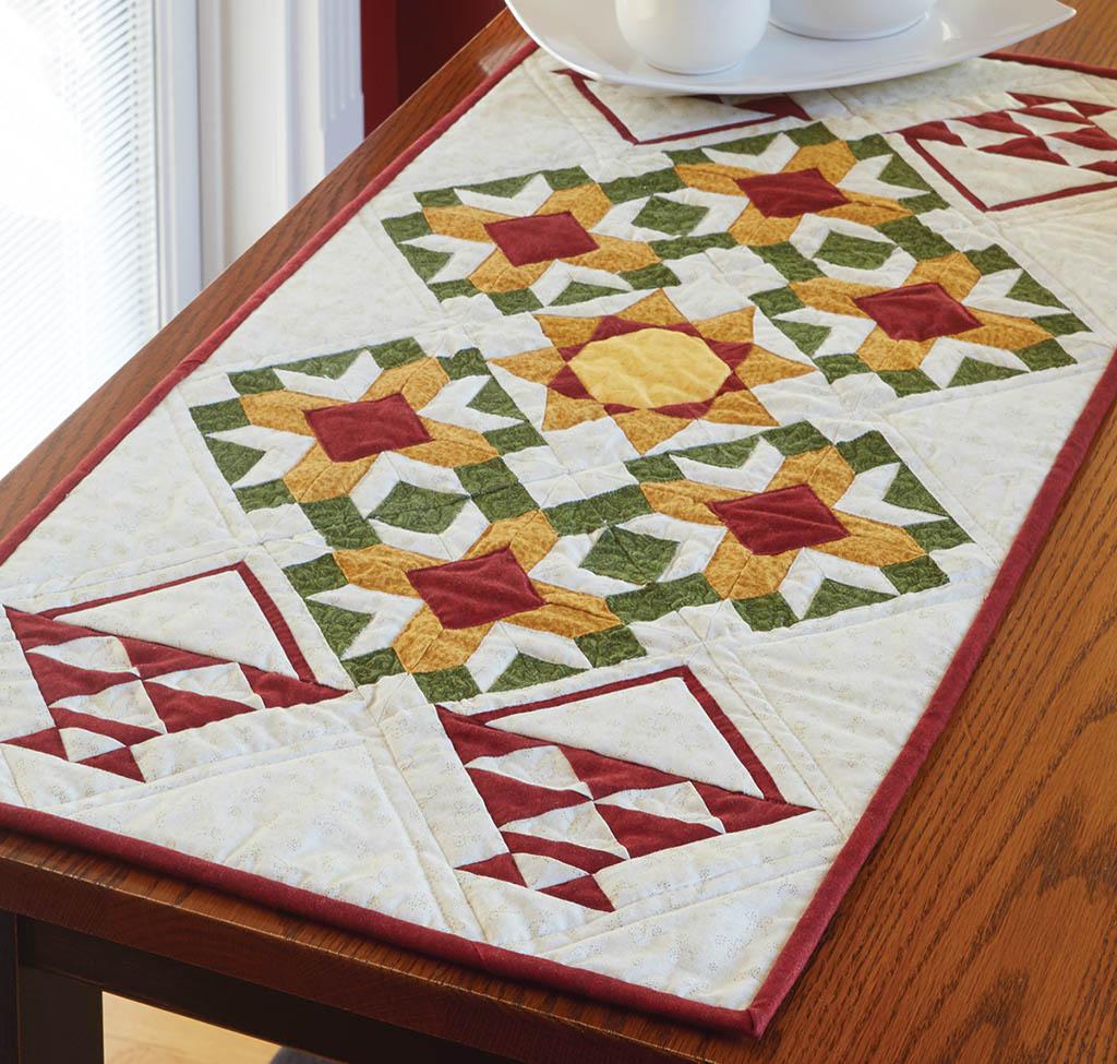 Farmer 39 s wife table runner quilt fons porter the for Table runner quilt design