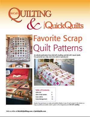 Favorite Scrap Quilt Patterns Friday Free Quilt Patterns: Stars in My Garden Scrappy Lap Quilt Pattern