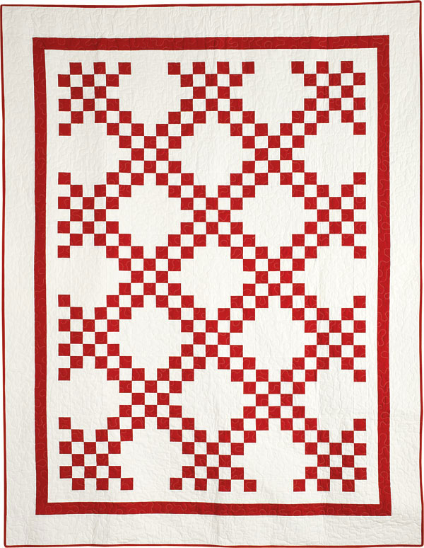 Block friday red and white quilts fons porter the for Red door design quilts