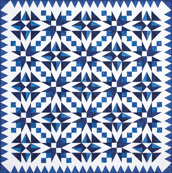 Electric Blue - Two Color Quilts