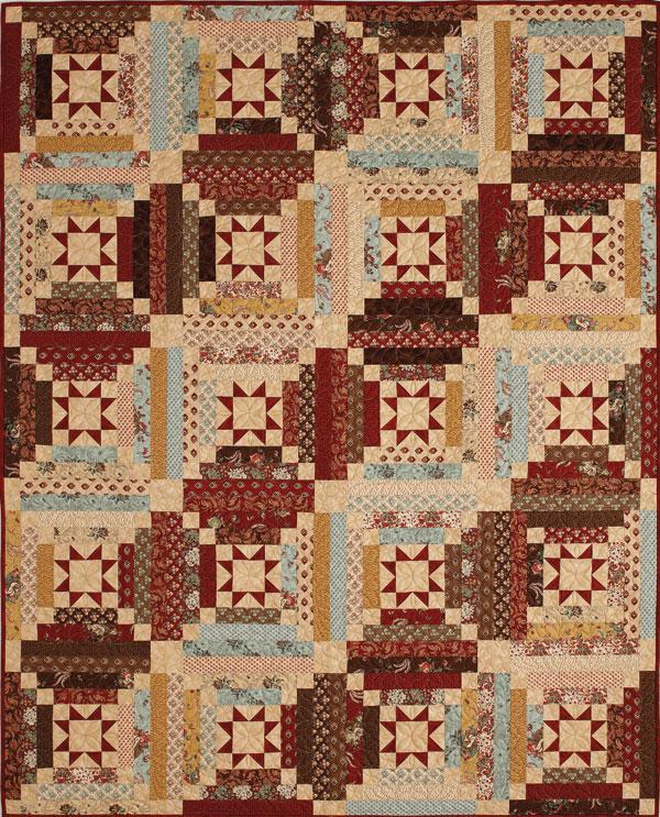 Charmant Throw Quilt Patterns. Libbyu0027s Log Cabin ...