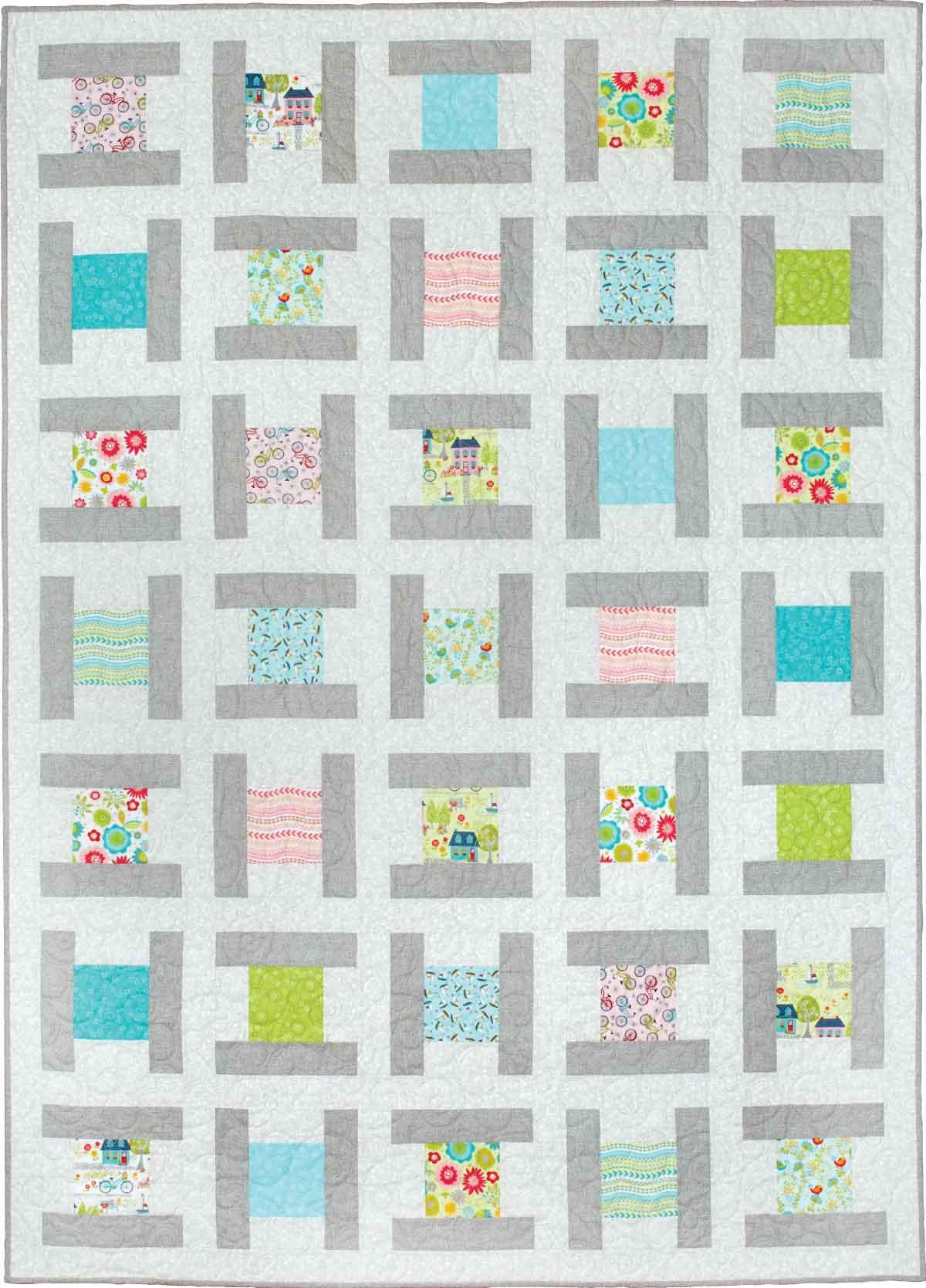 City Blocks - Throw Quilt Patterns