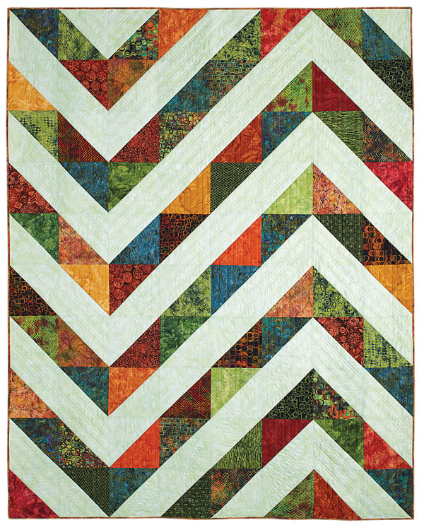 Triangle Batik Quilt From Fons & Porter's Love Of Quilting