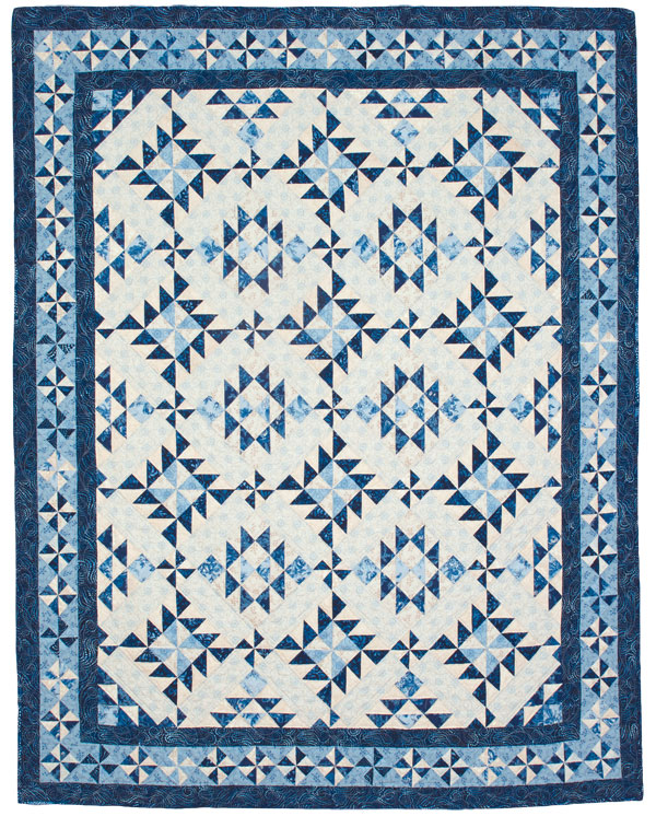 For You Blue - Two-Color Quilts