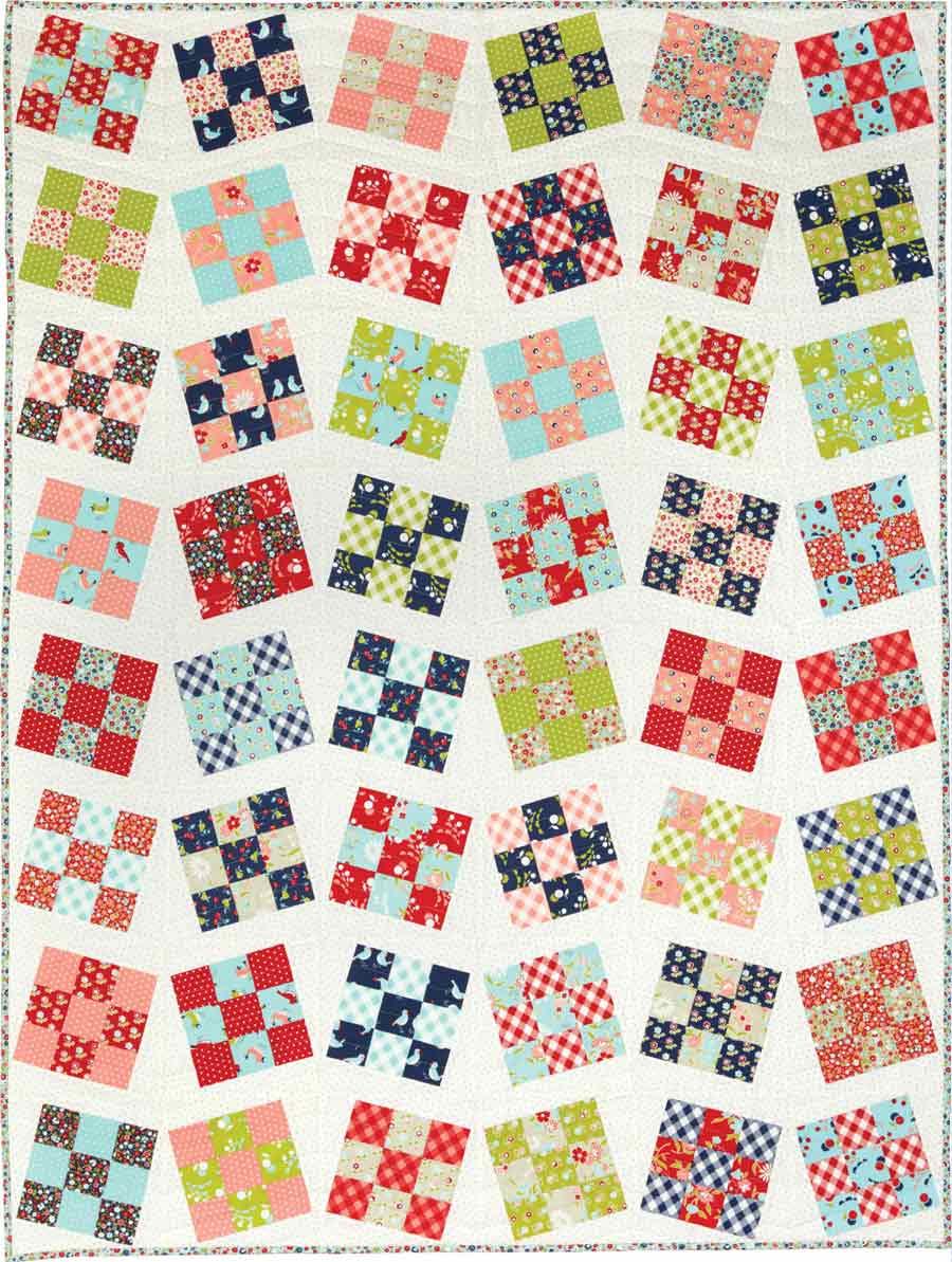 Line Dance - Nine-Patch Quilt Patterns