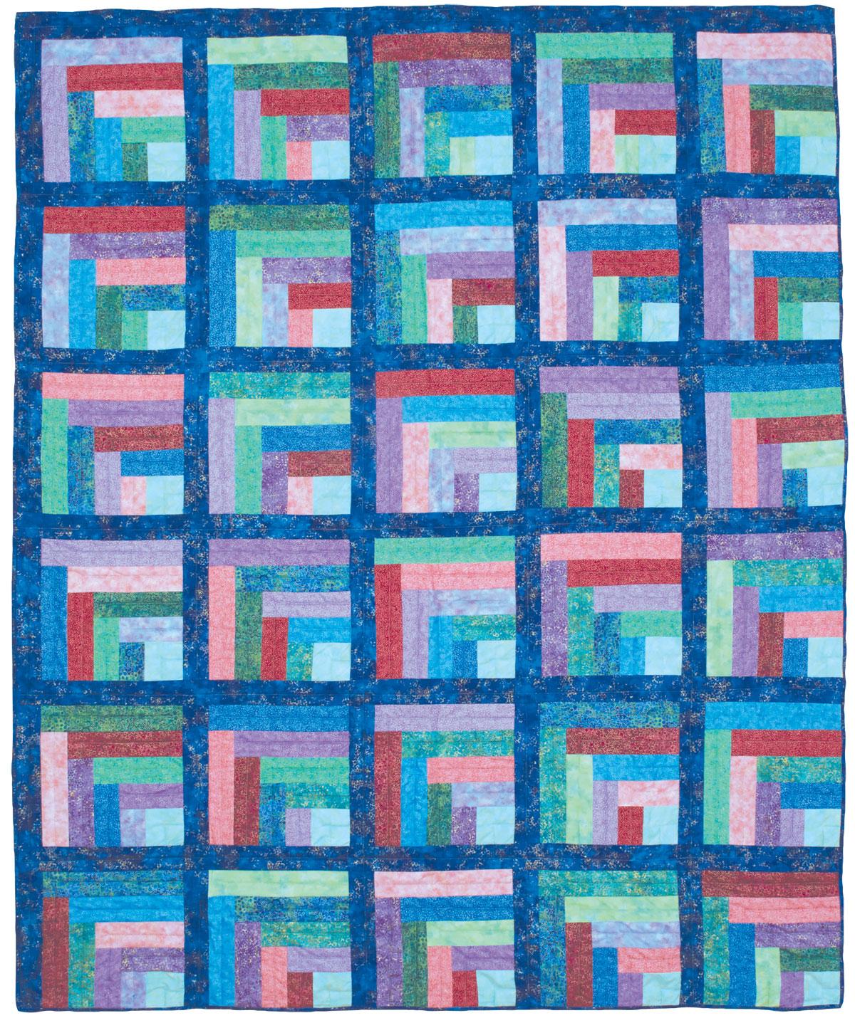 About This Quilt. Maggieu0027s Rainbow Quilt   Log Cabin Quilt Patterns