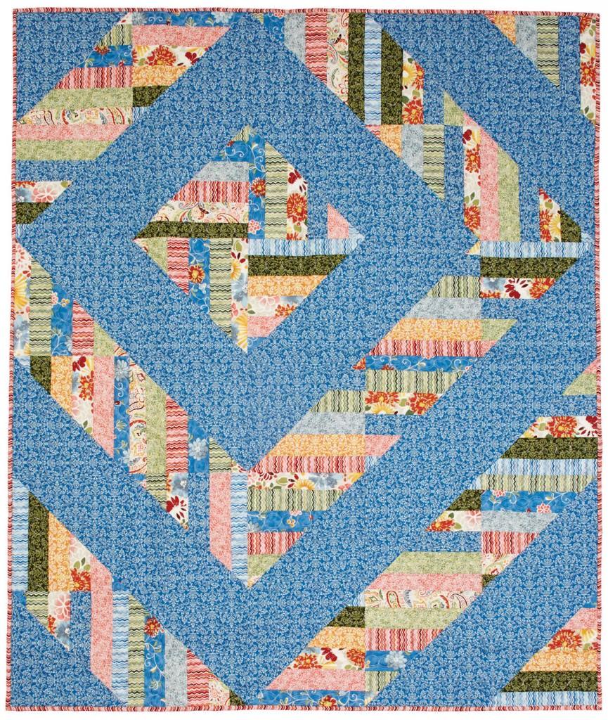 Modern Barn Raising Quilt - Fons & Porter - The Quilting Company : log cabin quilt layouts - Adamdwight.com