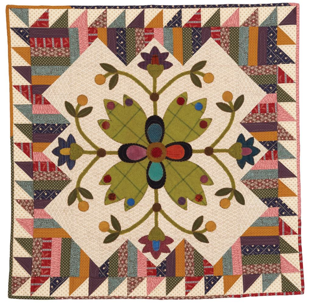 Picket Fence Blooms Quilt - Wall Hanging - Fons & Porter ...