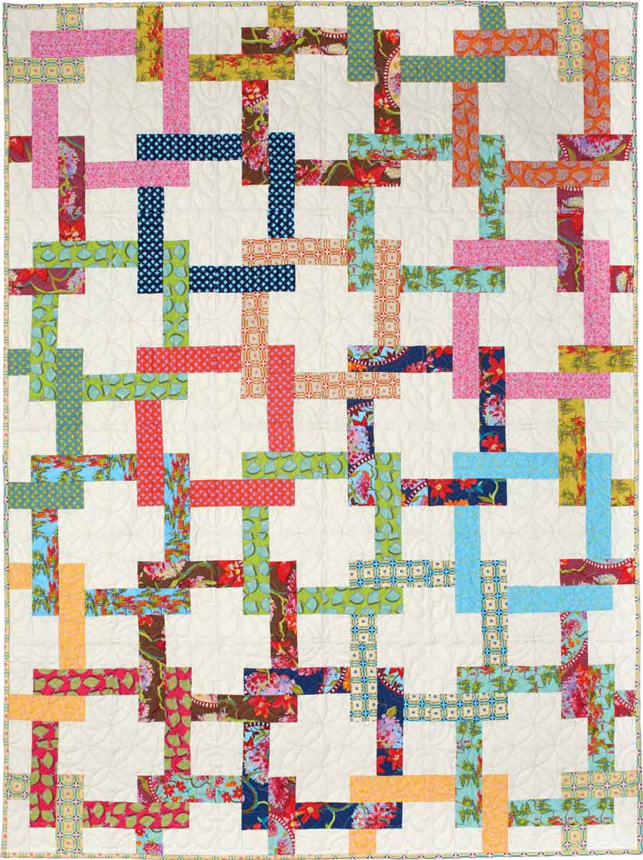 Pretzel Twist - Throw Quilt Patterns
